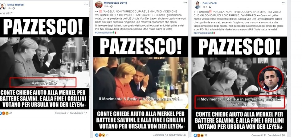 Clamoroso Salvini: attacca Conte pubblicando un video fake con la Merkel. Ecco il Video